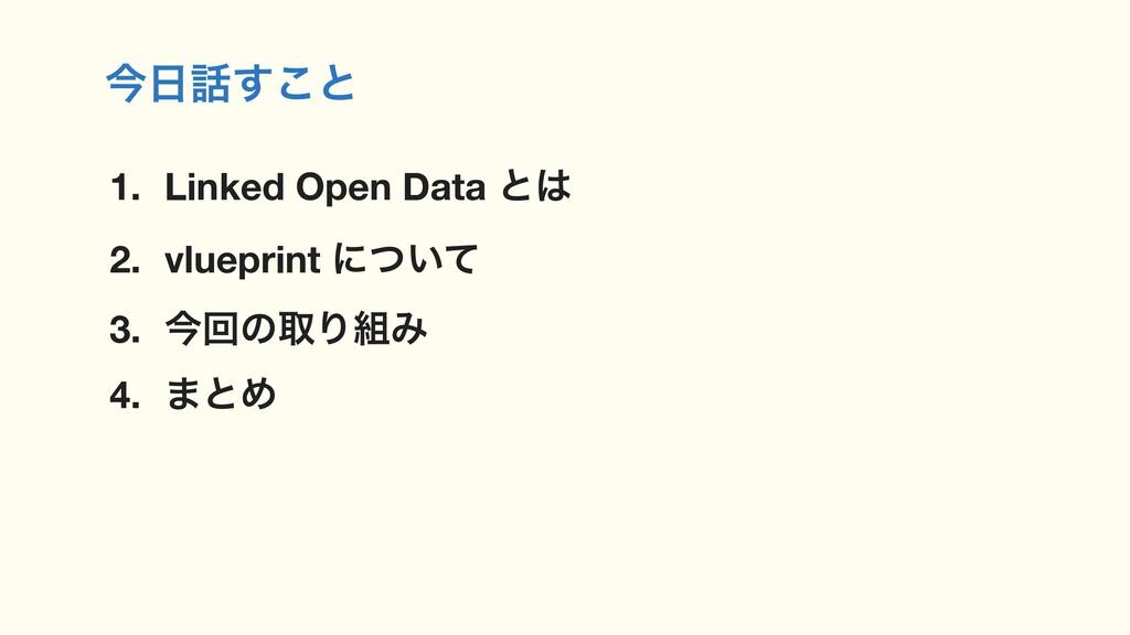 ࠓ͢͜ͱ 1. Linked Open Data ͱ 2. vlueprint ʹ͍ͭͯ...