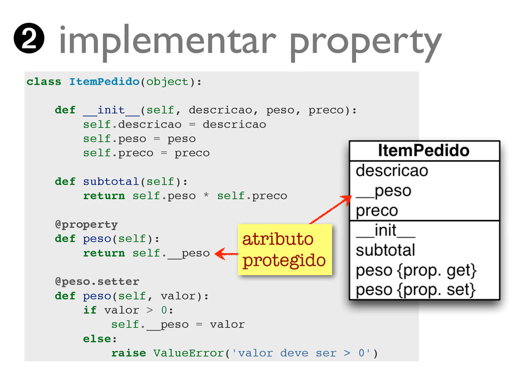 Turing.com.br ➋ implementar property class Item...