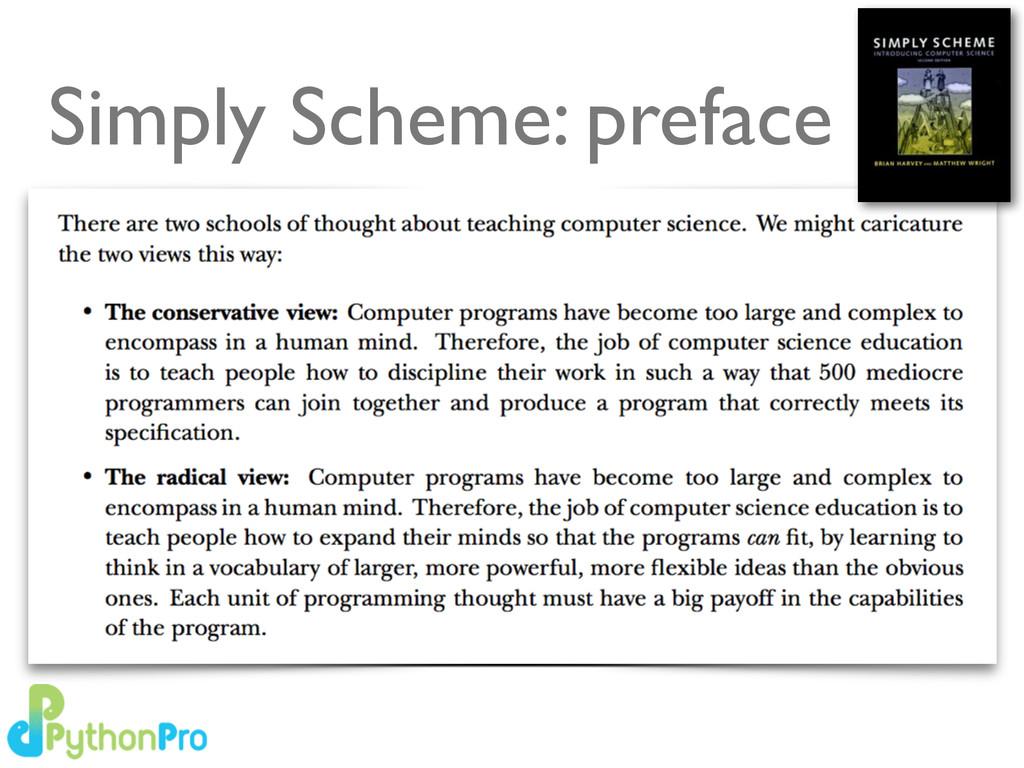 Simply Scheme: preface