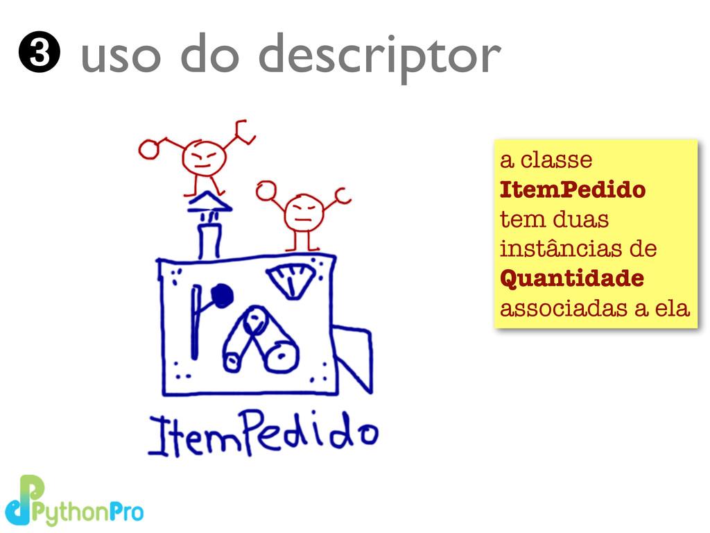 Turing.com.br ➌ uso do descriptor a classe Item...