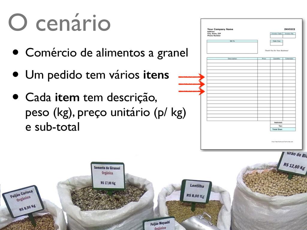 Turing.com.br O cenário • Comércio de alimentos...