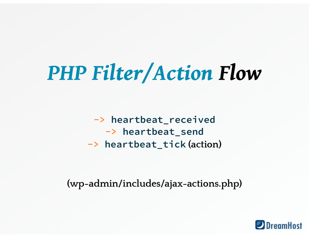 PHP Filter/Action Flow ! ! -> heartbeat_receiv...