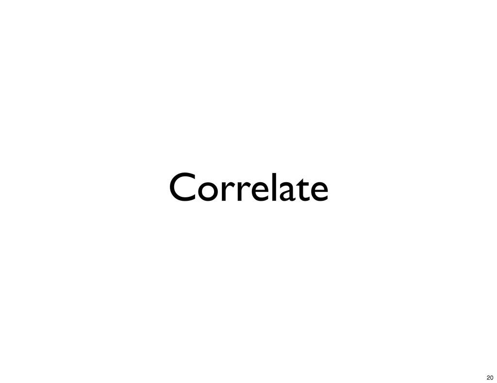 Correlate 20
