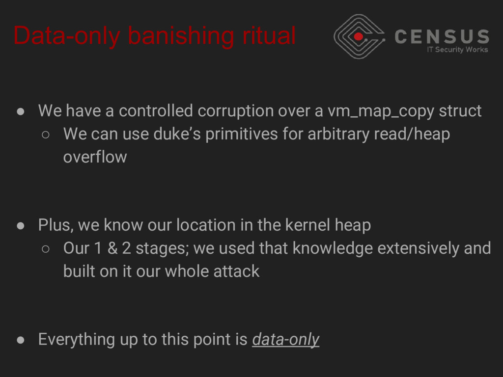 Data-only banishing ritual ● We have a controll...