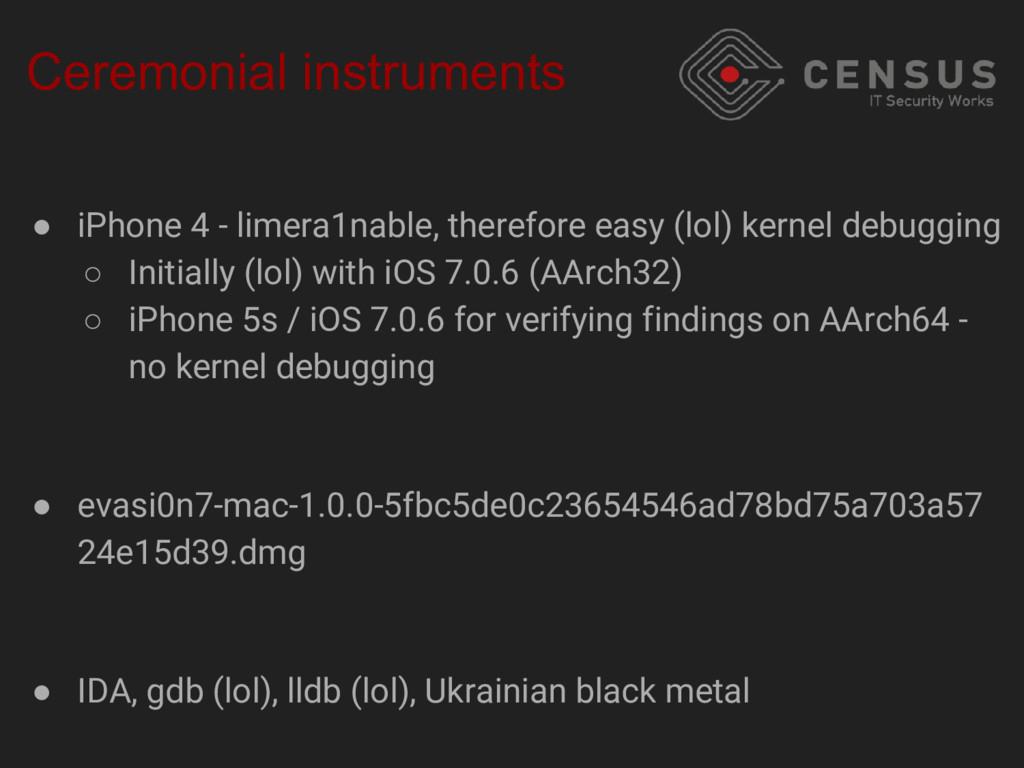 Ceremonial instruments ● iPhone 4 - limera1nabl...