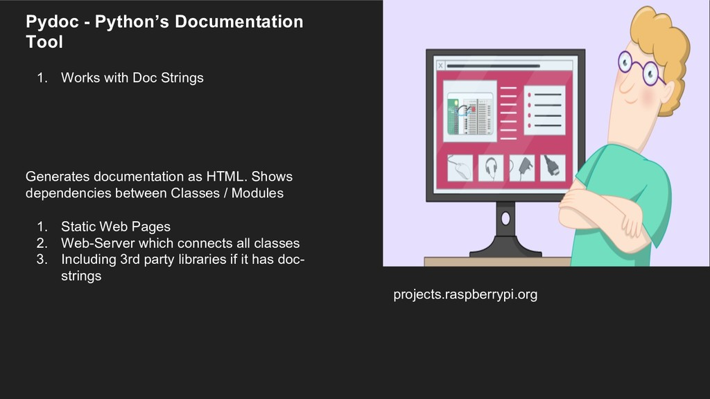projects.raspberrypi.org Pydoc - Python's Docum...