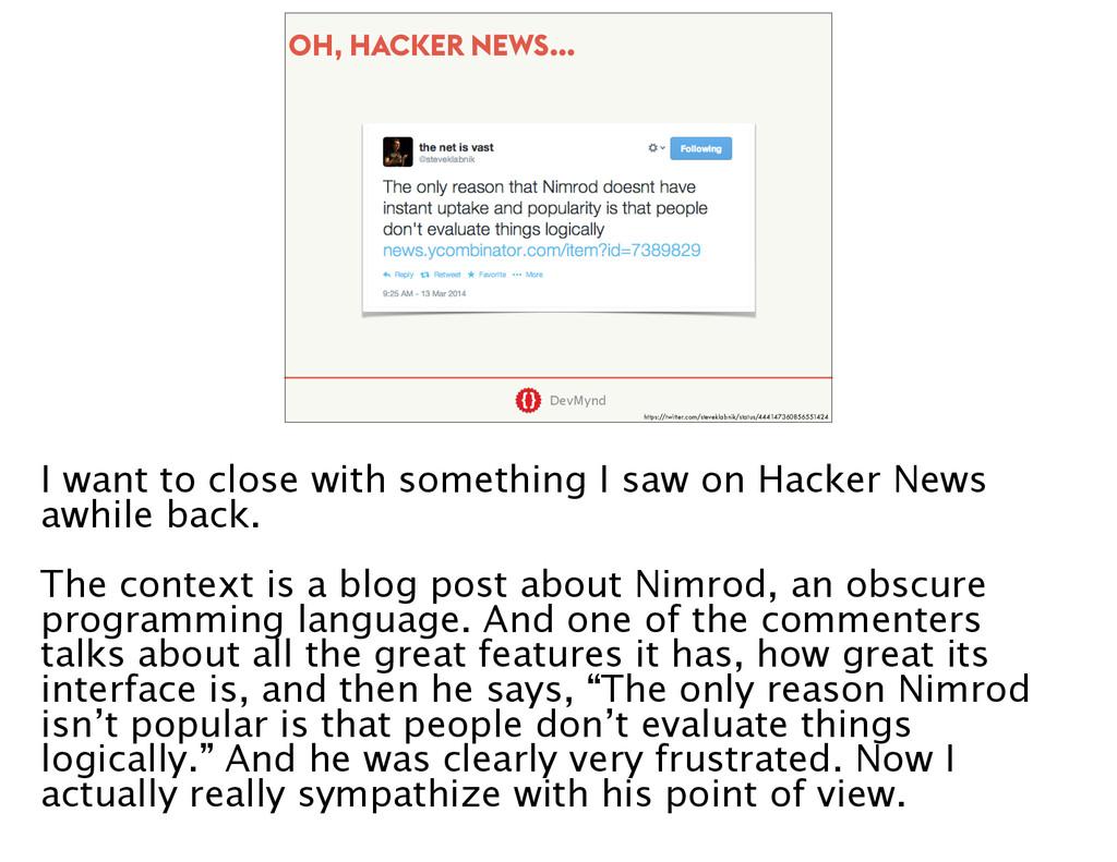 DevMynd OH, HACKER NEWS… https://twitter.com/st...