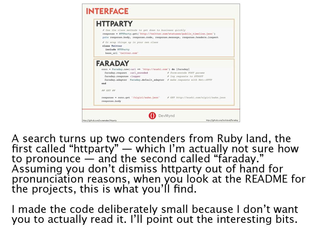 DevMynd INTERFACE HTTPARTY FARADAY https://gith...