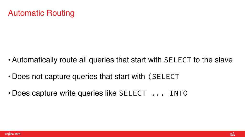 • Automatically route all queries that start wi...