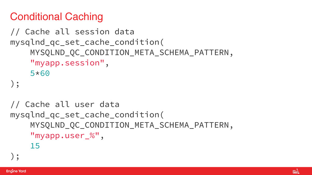 // Cache all session data mysqlnd_qc_set_cache_...