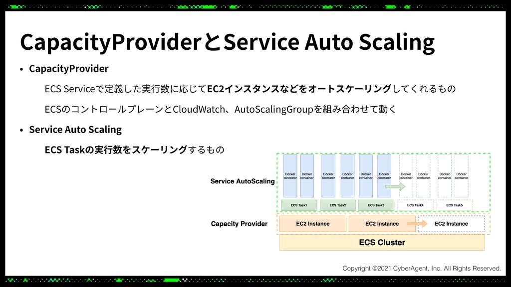 CapacityProviderとService Auto Scaling • Capacit...