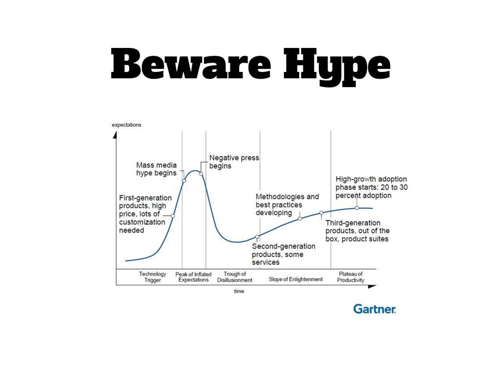 Beware Hype