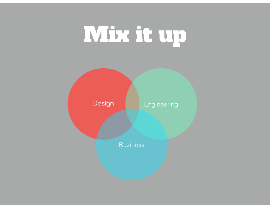 Mix it up Design Engineering Business