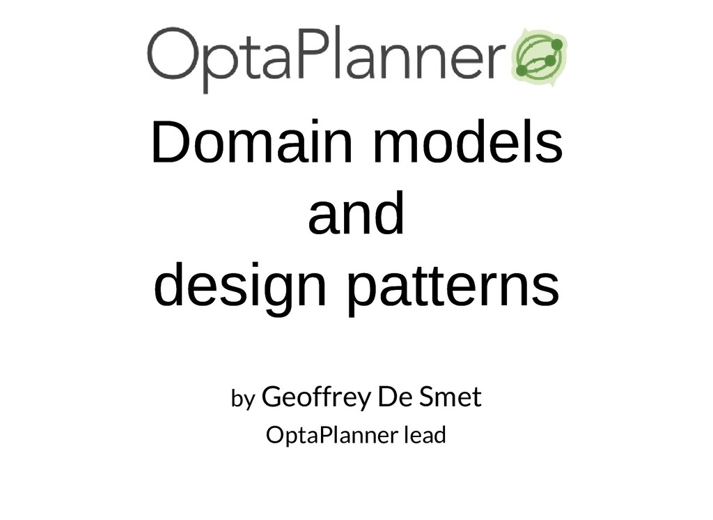 Domain models Domain models and and design patt...