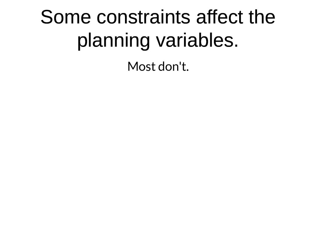 Some constraints affect the Some constraints af...