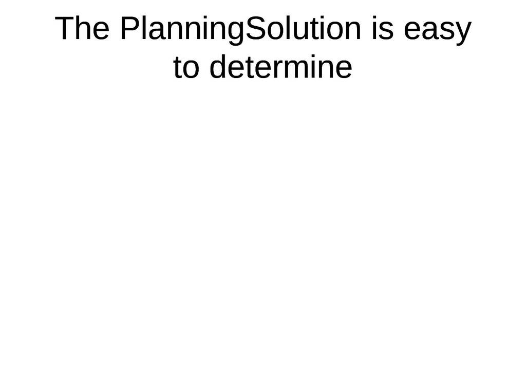 The PlanningSolution is easy The PlanningSoluti...