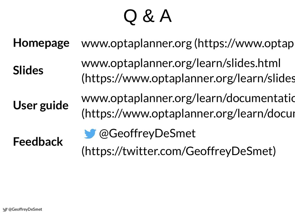 @GeoffreyDeSmet Q & A Q & A Homepage Slides Use...