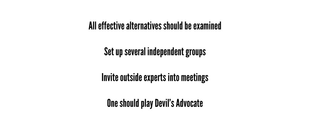 All effective alternatives should be examined S...