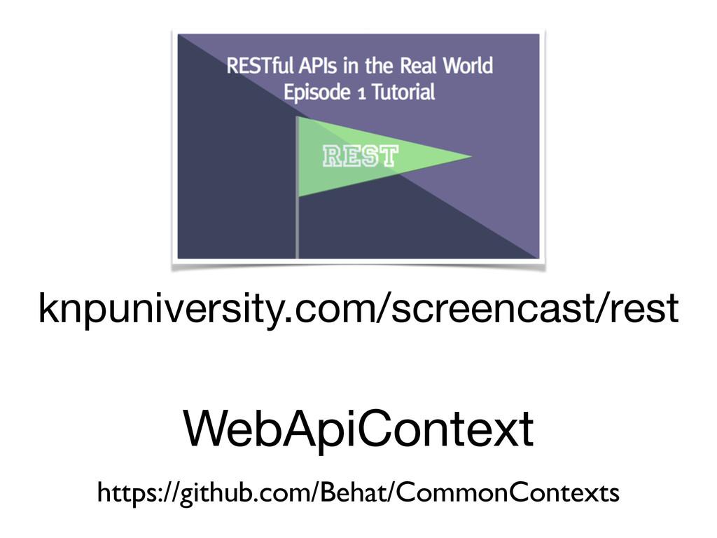 knpuniversity.com/screencast/rest WebApiContext...