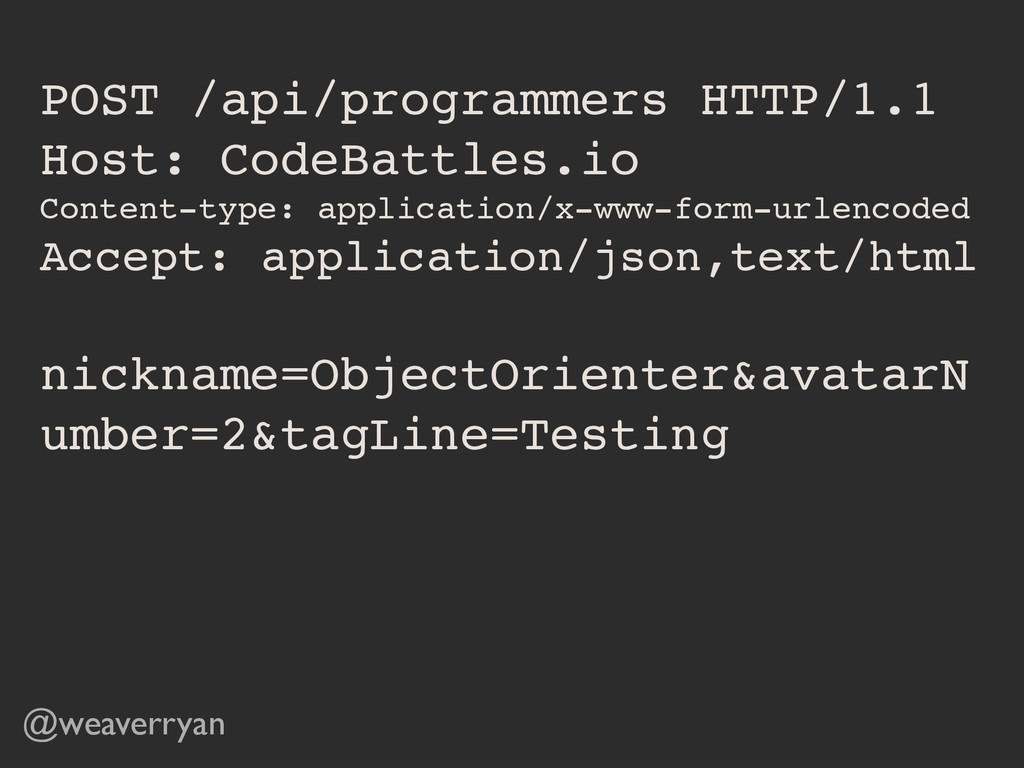 POST /api/programmers HTTP/1.1! Host: CodeBattl...