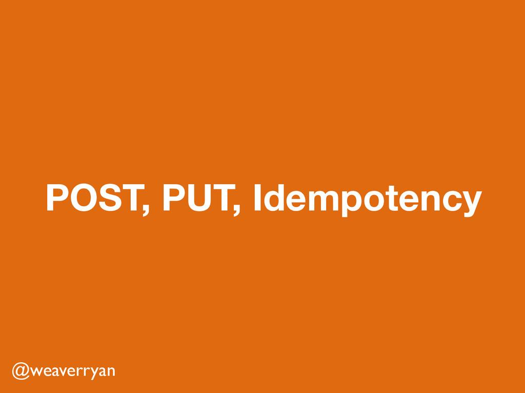 POST, PUT, Idempotency @weaverryan