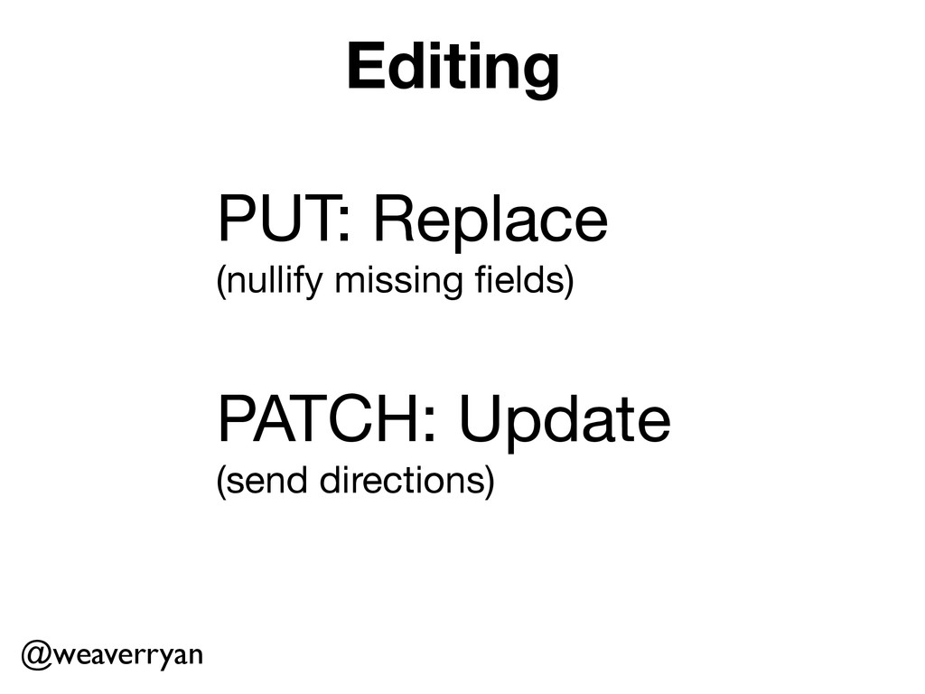 Editing PUT: Replace  (nullify missing fields)  ...
