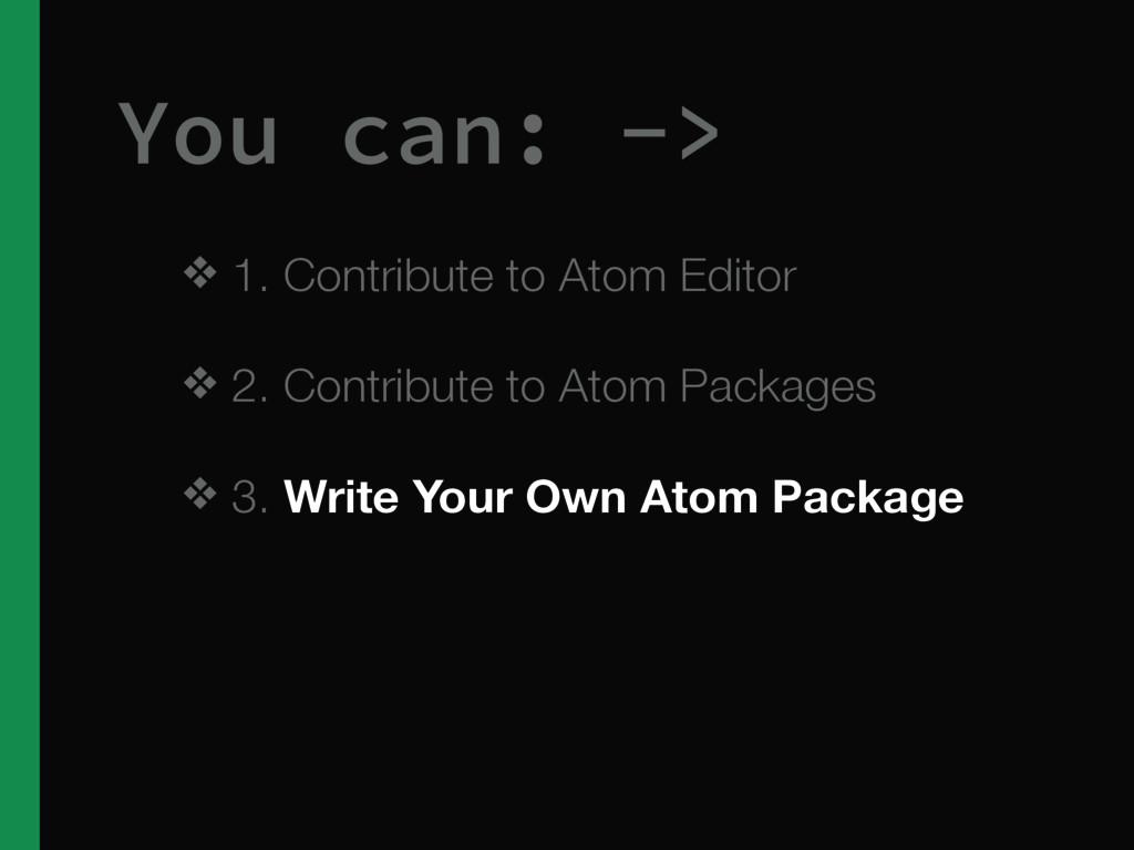 ❖ 1. Contribute to Atom Editor ❖ 2. Contribute ...