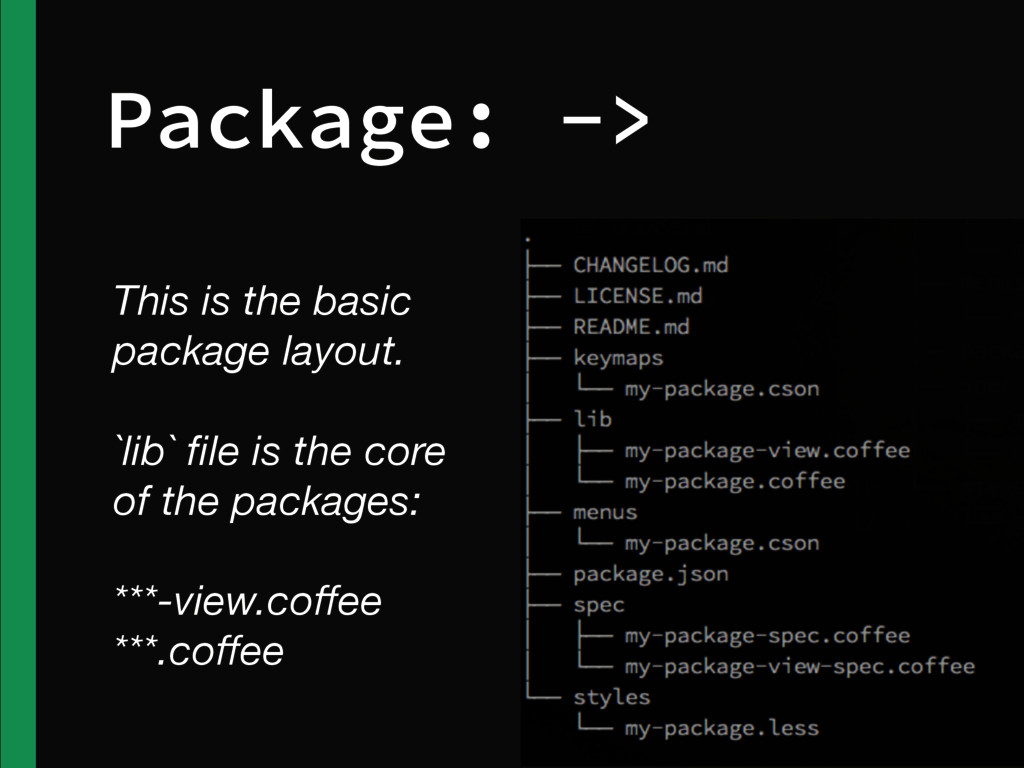 Package: -> This is the basic package layout. `...