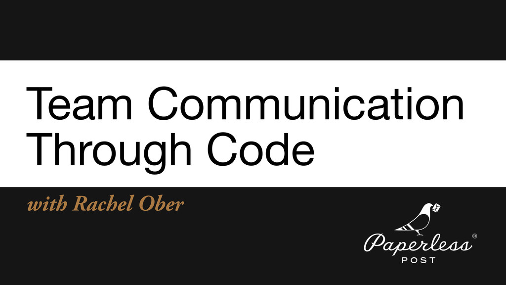 with Rachel Ober Team Communication  Through Co...