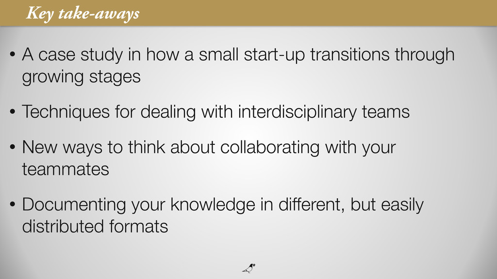 7 • A case study in how a small start-up transi...