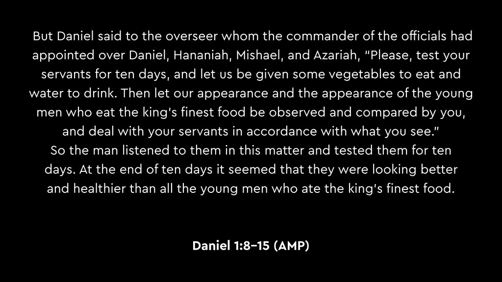 But Daniel said to the overseer whom the comman...