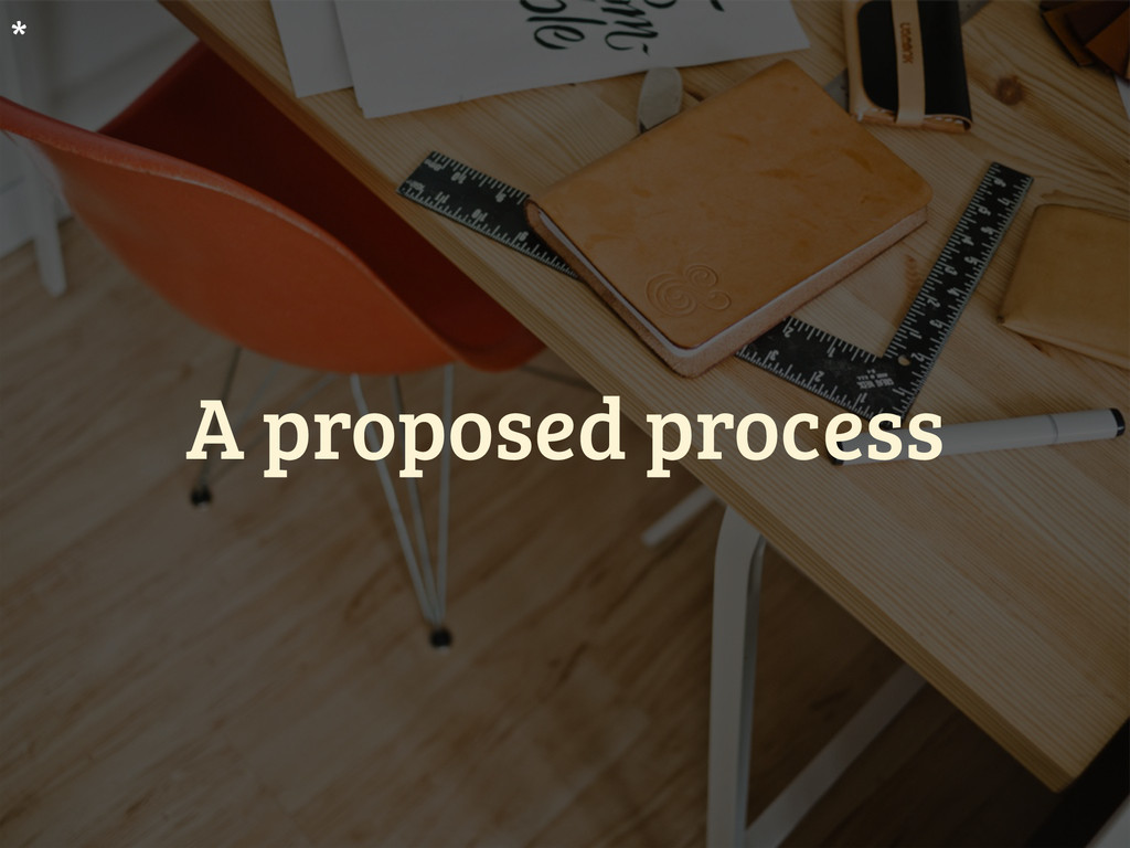 A proposed process *