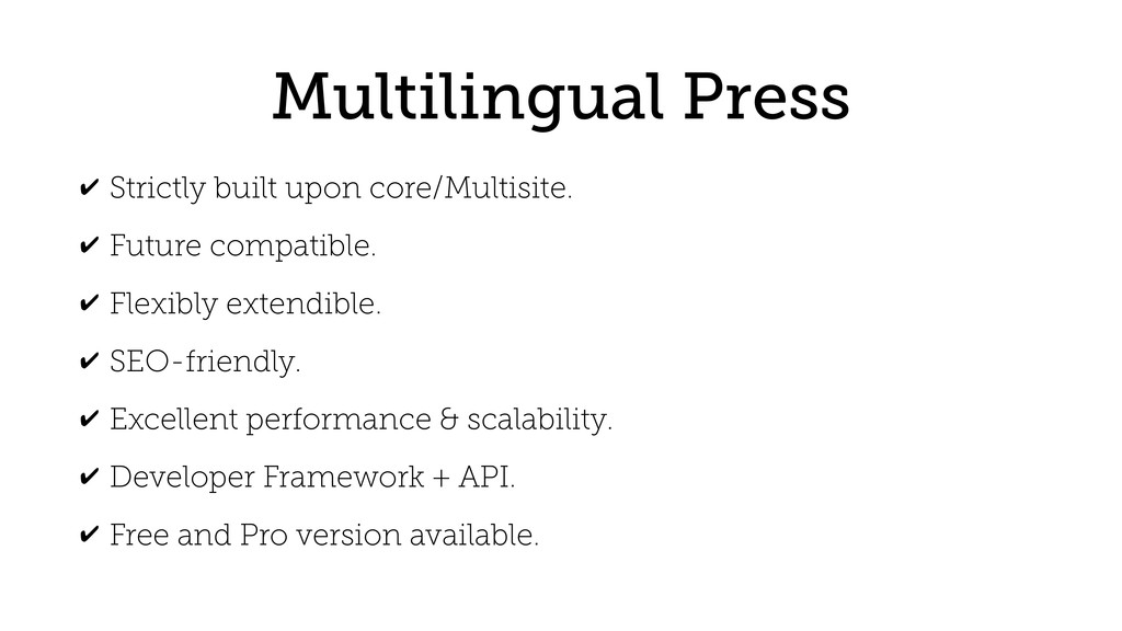 Multilingual Press ✔ Strictly built upon core/M...