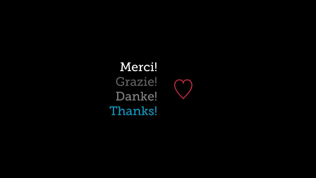 ὑ Merci! Grazie! Danke! Thanks!