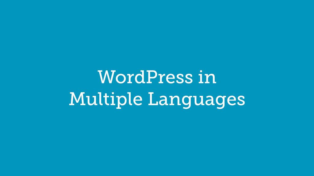 WordPress in Multiple Languages