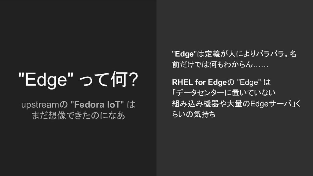 """""""Edge"""" って何? """"Edge""""は定義が人によりバラバラ。名 前だけでは何もわからん…… ..."""