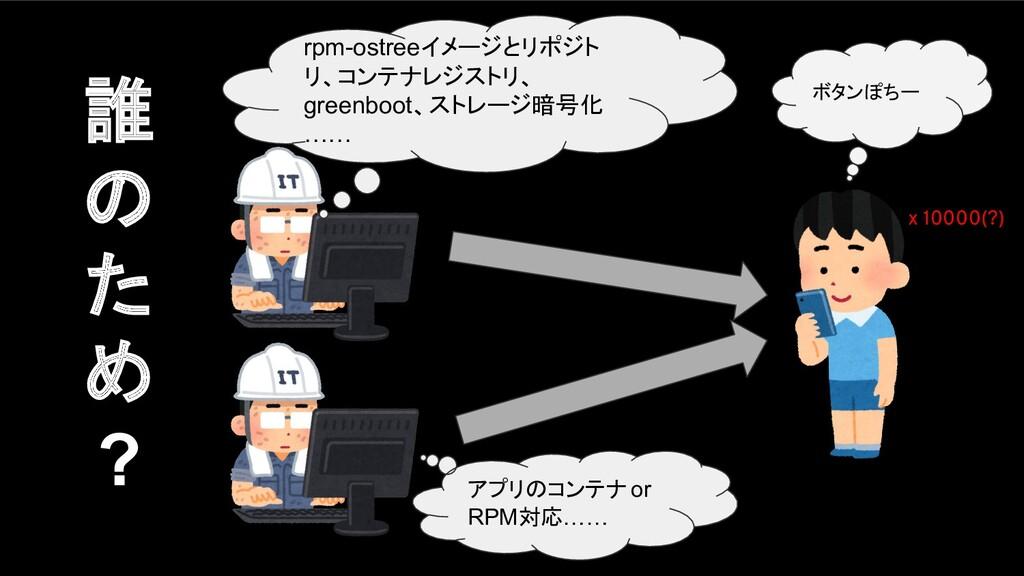 アプリのコンテナ or RPM対応…… rpm-ostreeイメージとリポジト リ、コンテナレ...