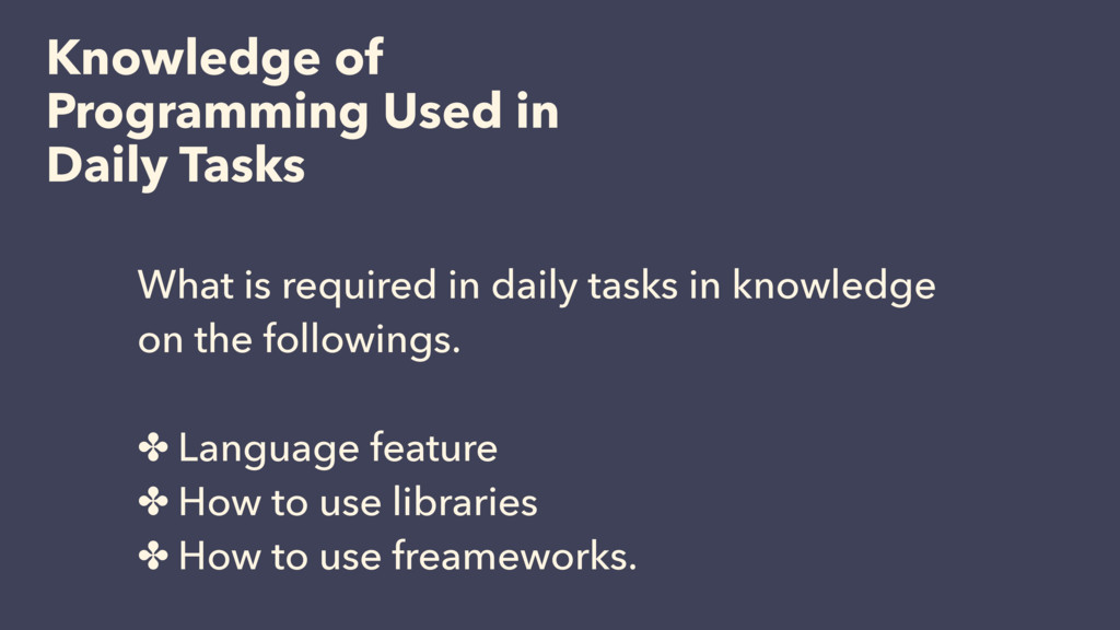 Knowledge of Programming Used in Daily Tasks Wh...