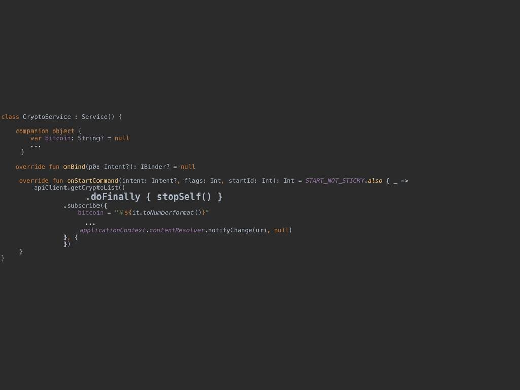 class CryptoService : Service() { companion obj...