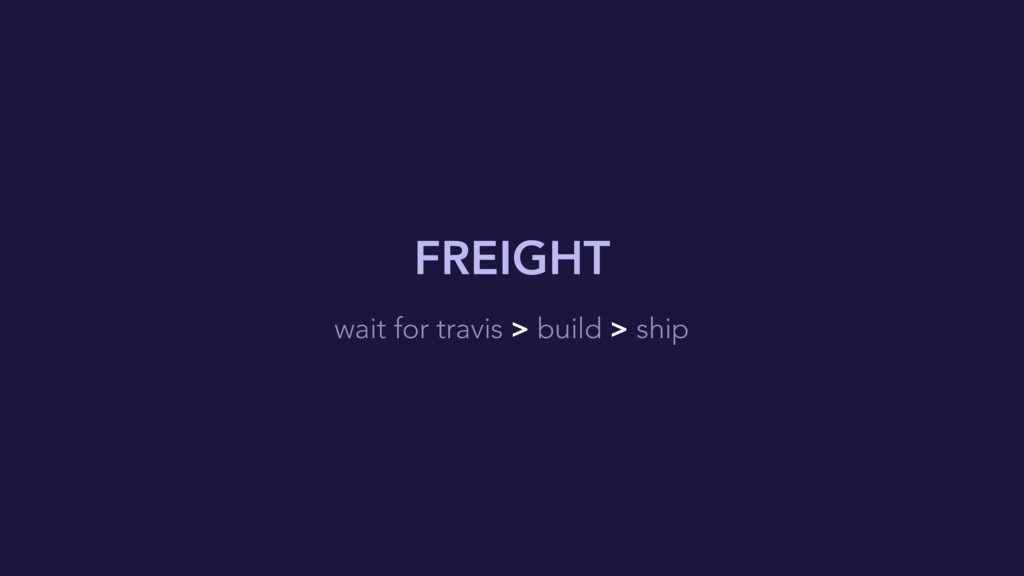 FREIGHT wait for travis > build > ship