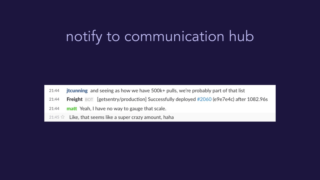 notify to communication hub