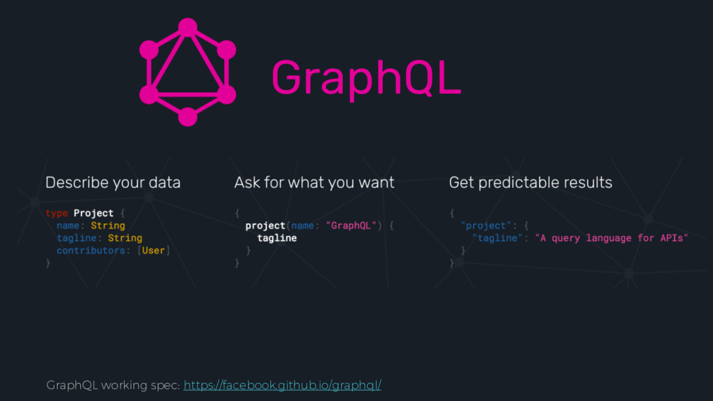 GraphQL GraphQL working spec: https://facebook....