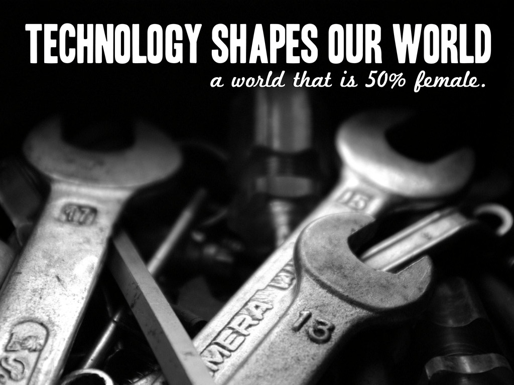 Technology shapes our world a world that is 50%...