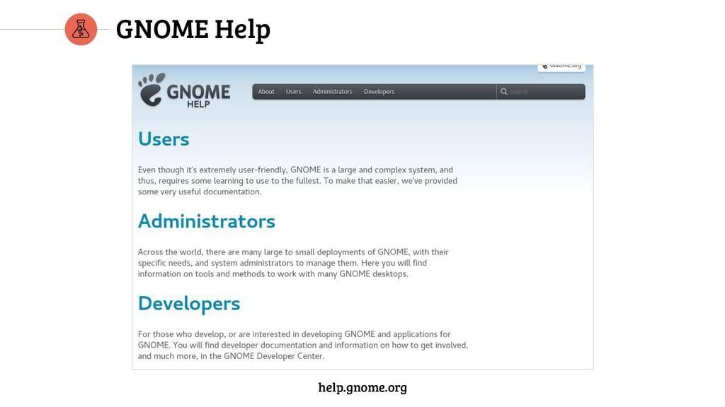 GNOME Help help.gnome.org help.gnome.org