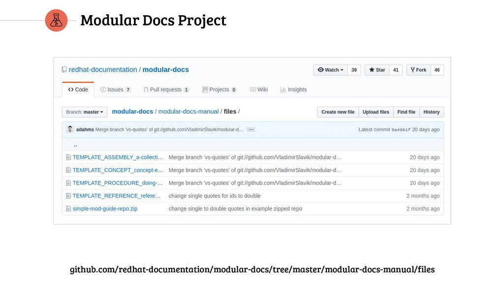 Modular Docs Project github.com/redhat-document...