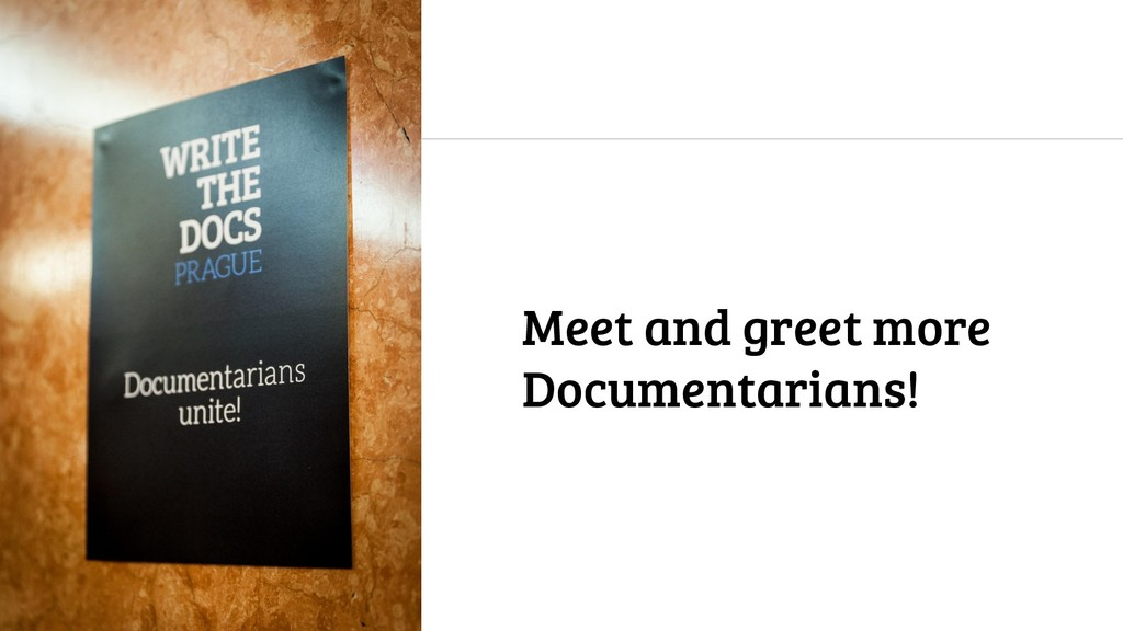 Meet and greet more Documentarians!