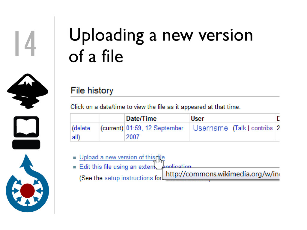 Uploading a new version of a file 14