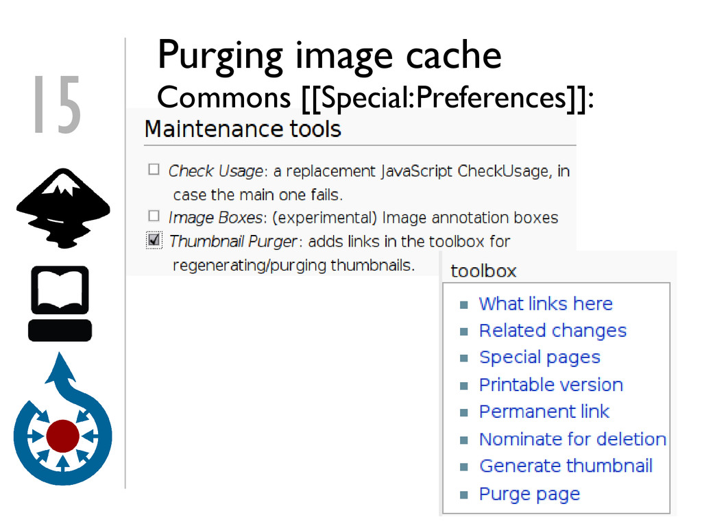 15 Purging image cache Commons [[Special:Prefer...
