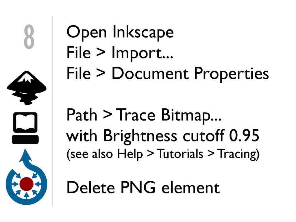 Open Inkscape File > Import... File > Document ...