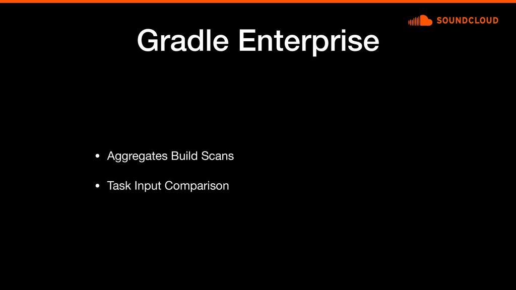 Gradle Enterprise • Aggregates Build Scans  • T...